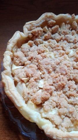 torta mele crumble mandorle 3