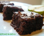 Brownie alle pere