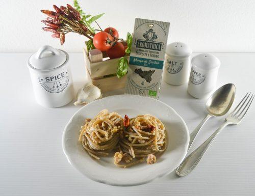 Spaghetti aglio olio e tonno