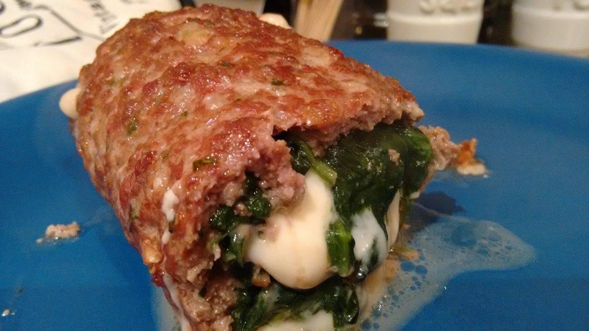 Polpettone con edam e spinaci