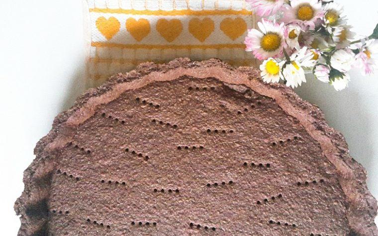 PASTA FROLLA al CACAO, base per crostate