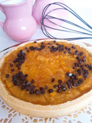 crostata di arance e gocce di cioccolato