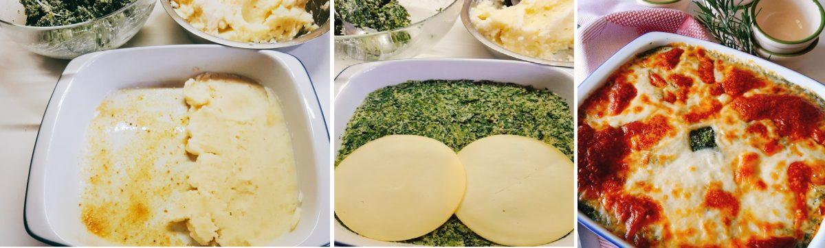 tortino filante di patate e biete