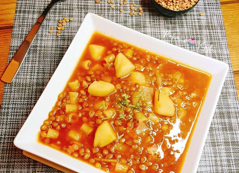 minestra patate e lenticchie
