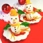 pupazzi di neve tutti da mangiare