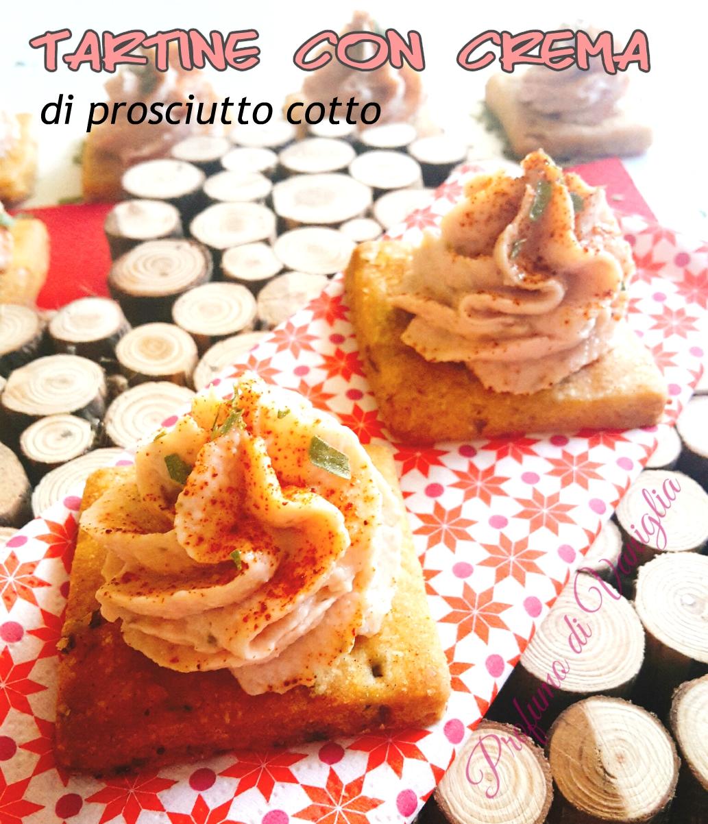 tartine con crema di prosciutto cotto