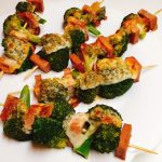 spiedini di broccoli e mortadella