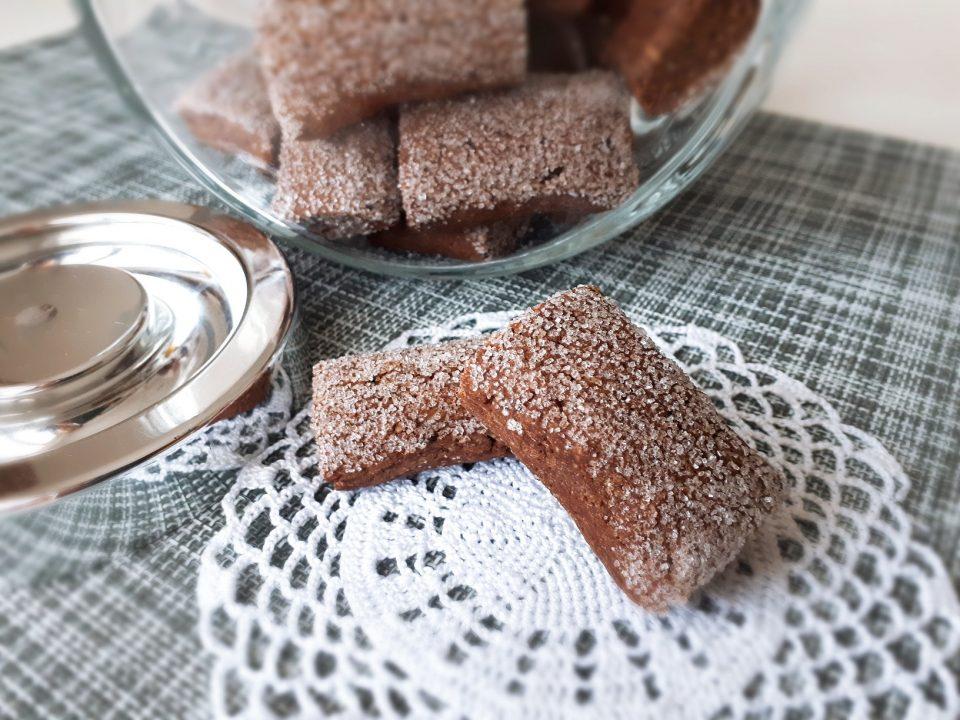 biscotti morbidi con cacao e caffè