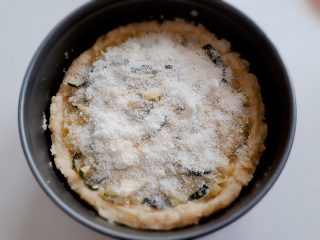 quiche di polenta con porri e zola