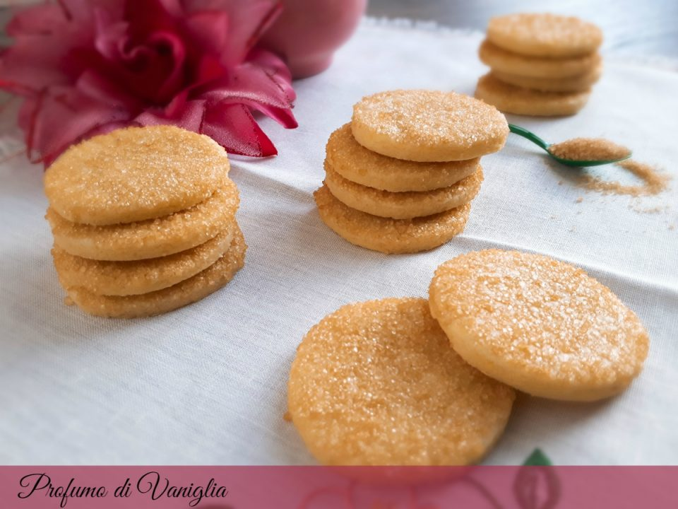 butter cookies con zucchero di canna