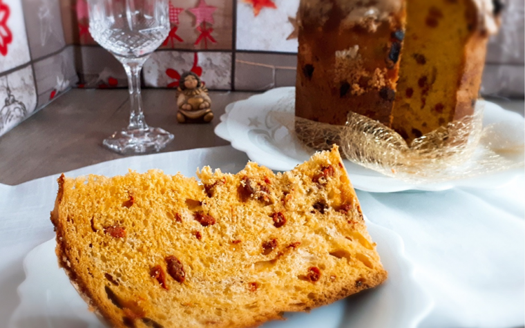 Panettone SENZA CANDITI con glassa alle MANDORLE