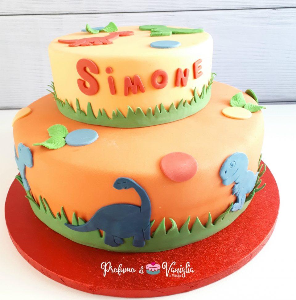 torta con dinosauri