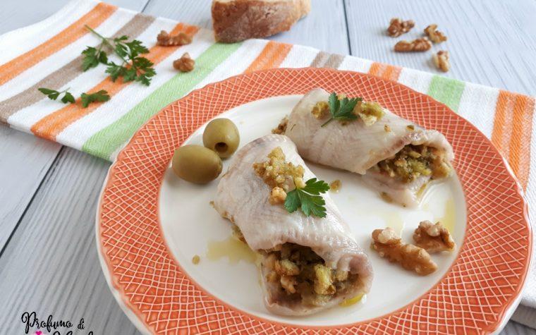 INVOLTINI DI PLATESSA con noci e olive