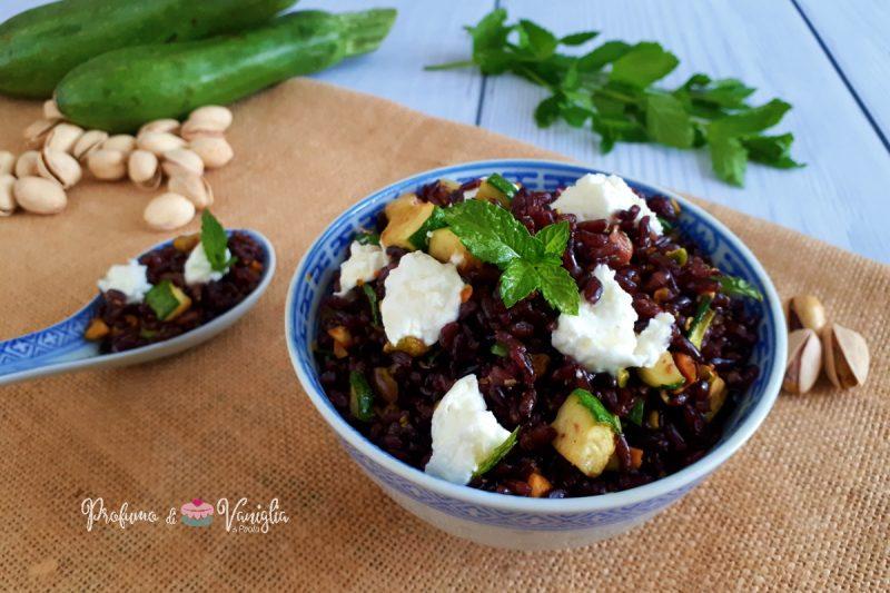 RISO VENERE con pistacchi, zucchine e Seiràss