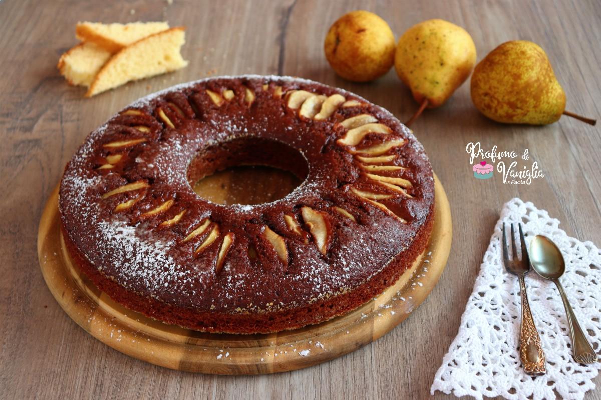 torta di pere e cacao facile
