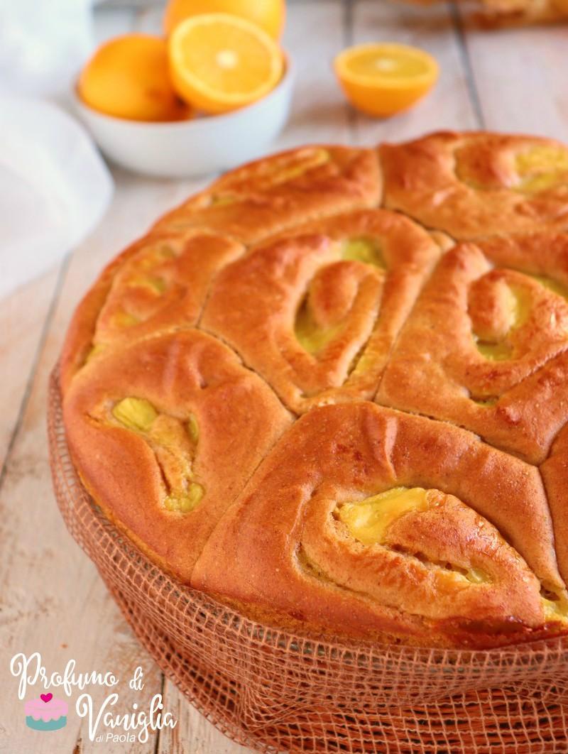 ricetta torta brioche con crema