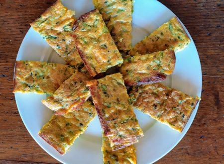 Frittata al forno con zucca, zucchine e farina integrale