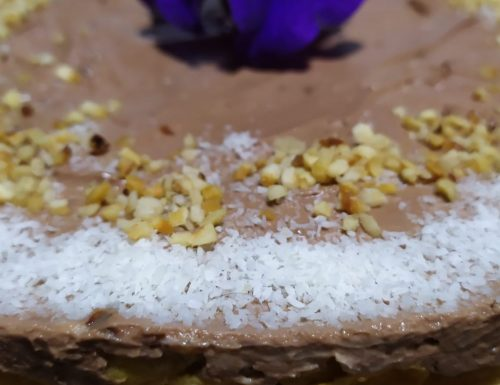 """Cheesecake con crema di nocciole """"Pan di stelle"""""""