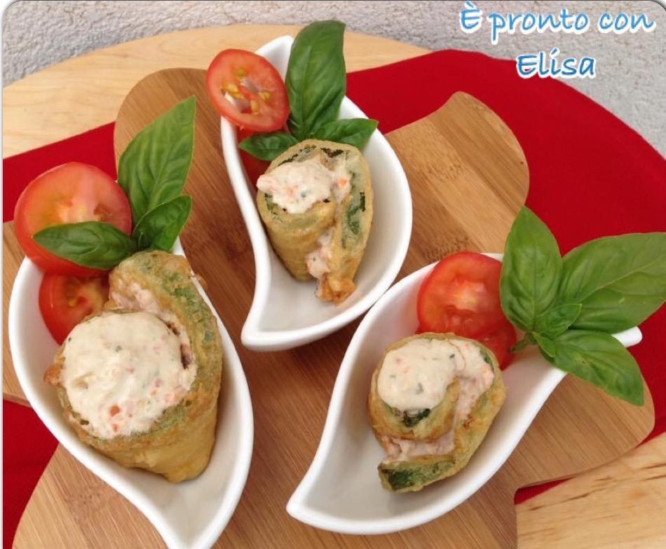 Zucchine in pastella con salsa tonnata