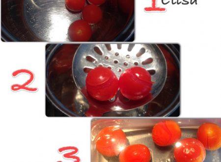 Come pelare i pomodori freschi ricetta veloce