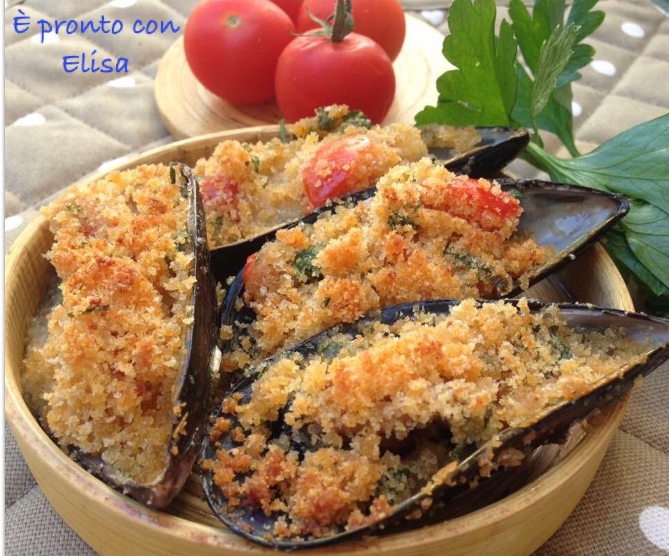 Cozze gratinate-ricetta facile