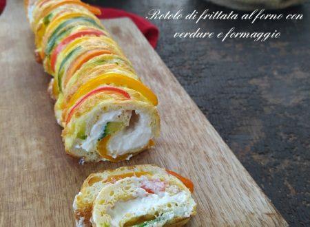 Rotolo di frittata al forno con verdure e formaggio