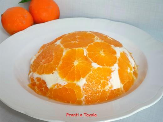 Cupola di bavarese alle arance
