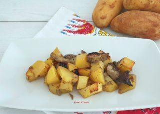 Funghi e patate al forno