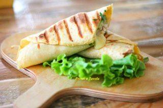 Piadina vegetariana cremosa