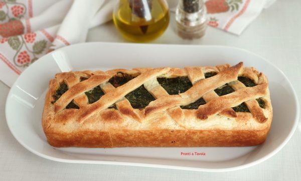 Bauletto di sfoglia con spinaci e parmigiano