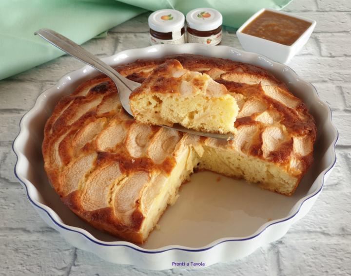 Torta di mele light con marmellata (versione senza zucchero)