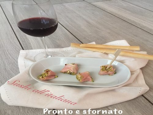 Sushi all'italiana involtini per l'aperitivo