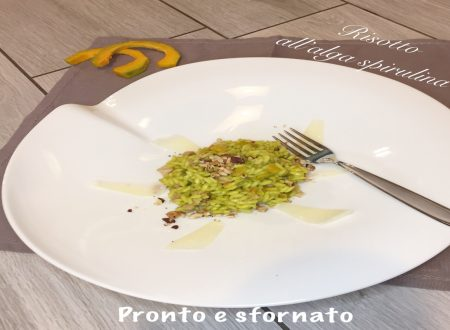 Risotto all'alga spirulina