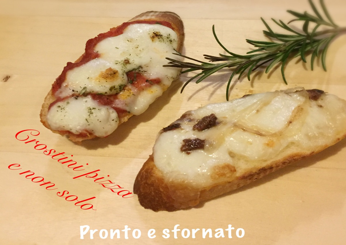 Crostini pizza