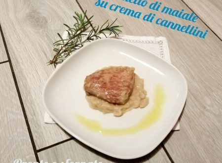 Filetto di maiale su crema di cannellini