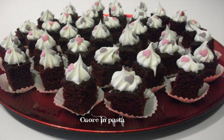 Mini red velvet al cioccolato