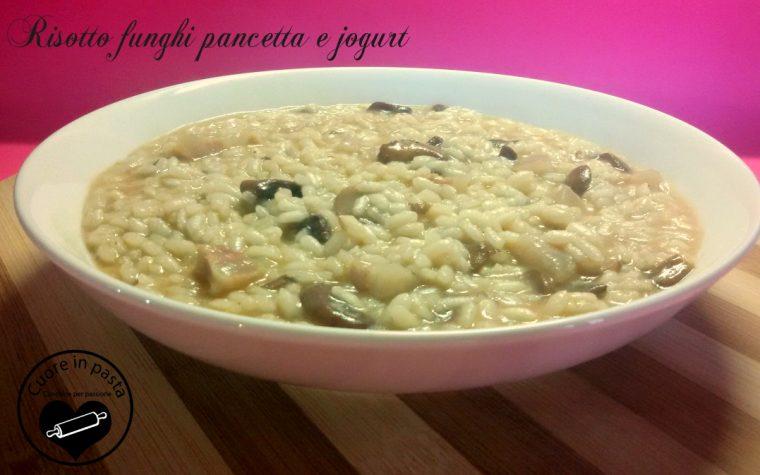 Risotto funghi pancetta e yogurt