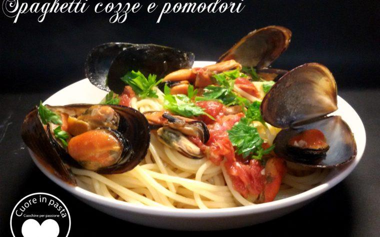 Spaghetti cozze e pomodori