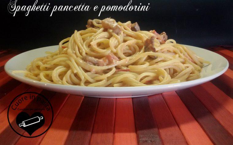 Spaghetti pancetta e pomodorini