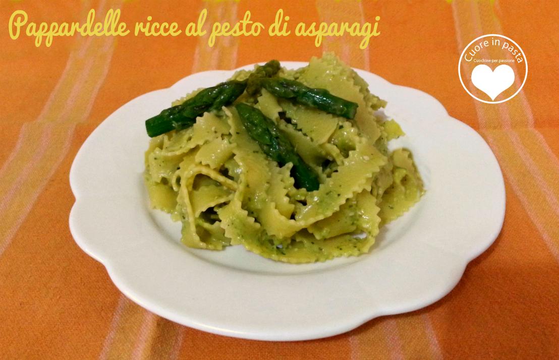 Pappardelle ricce al pesto di asparagi
