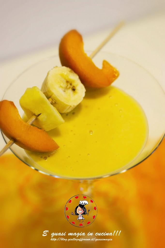 frullato pesca banana