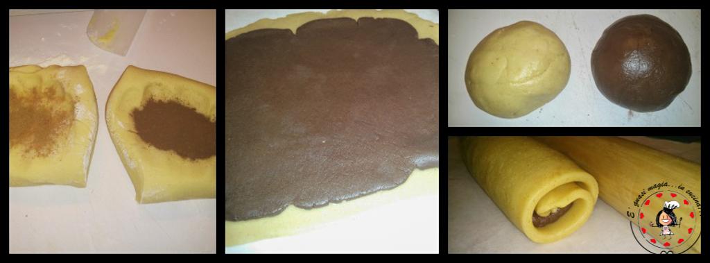 Biscotti Girandola Cannella e Cacao -  preparazione