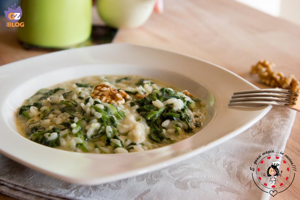 Risotto cremoso spinaci e mozzarella