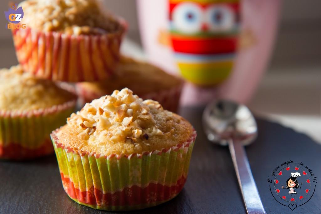 Muffin mele cannella e nocciole