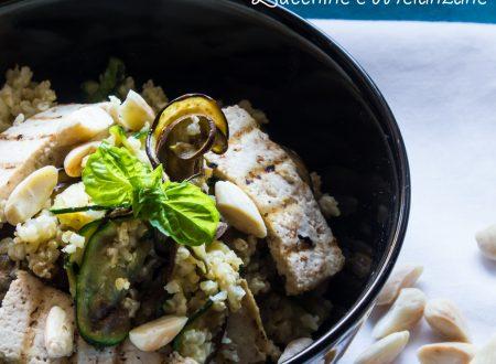 Insalata di Miglio Tofu Zucchine e Melanzane