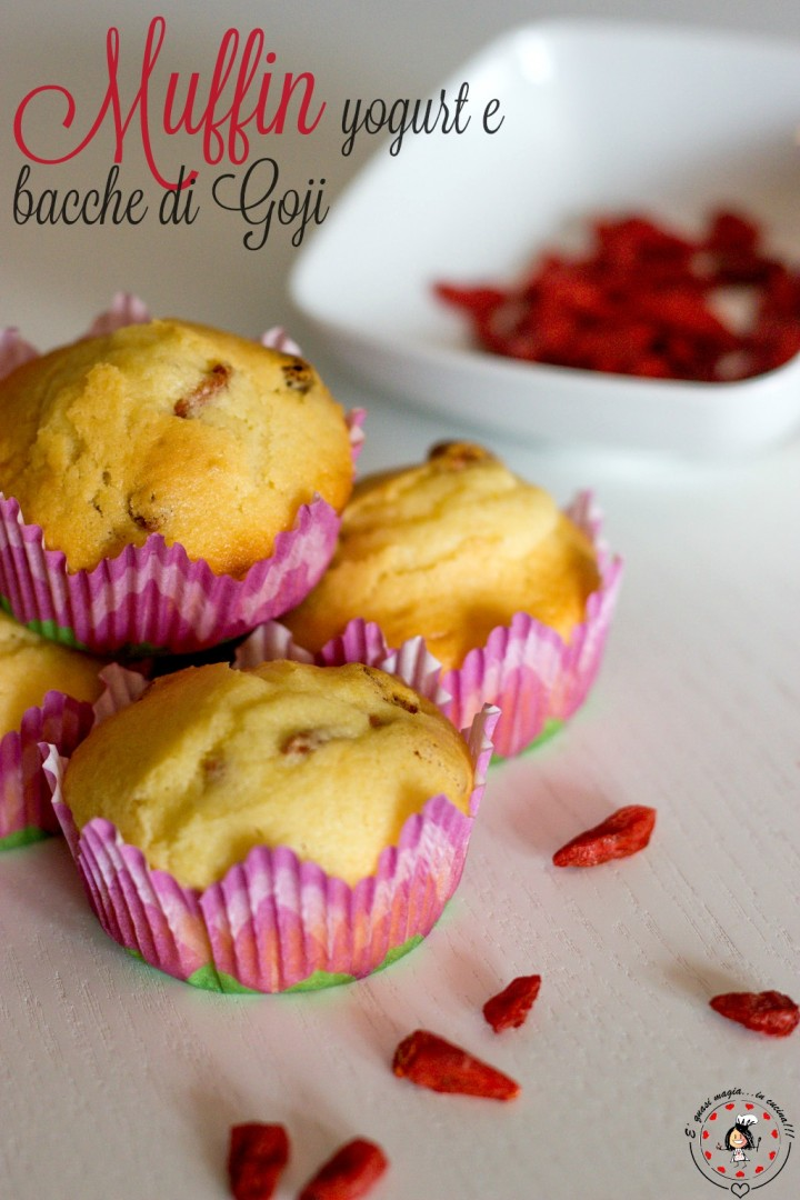 Muffin yogurt e bacche di Goji