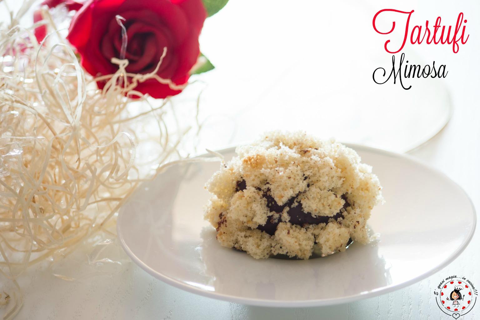 Tartufi mimosa - dolcetti senza cottura | E' Quasi Magia in Cucina