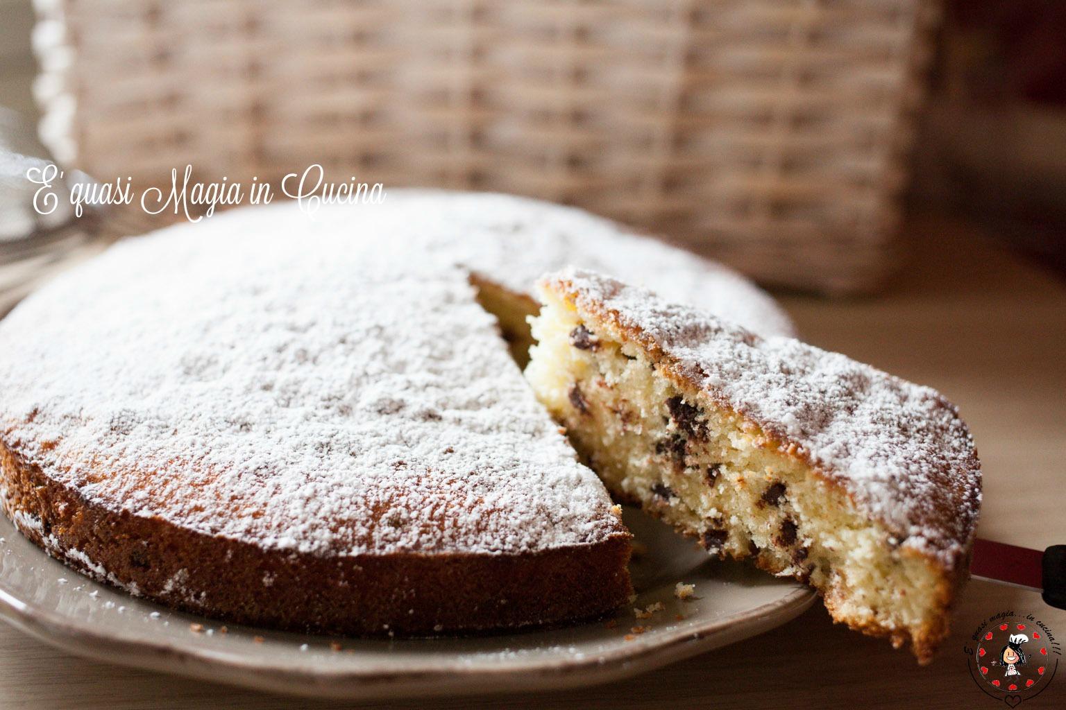 Torta mascarpone e gocce di cioccolato