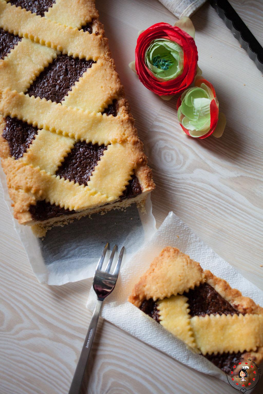 Crostata alla nutella con frolla al cocco e 39 quasi magia - Bagno nella nutella ...
