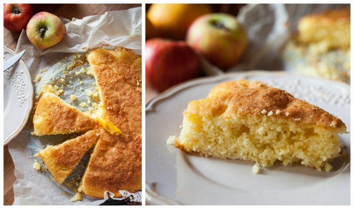 torta di mele al succo di arancia